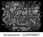 hand drawn sketch doodle vector ... | Shutterstock .eps vector #1109958047