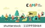 summer camping poster  banner....   Shutterstock .eps vector #1109958464