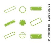 vector stamp without text. set... | Shutterstock .eps vector #1109960711