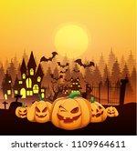 halloween vector illustration   Shutterstock .eps vector #1109964611