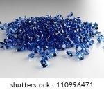 pile of saphire diamonds | Shutterstock . vector #110996471