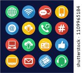 information channel icons flat... | Shutterstock .eps vector #1109965184