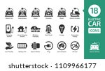 electric car icon set with... | Shutterstock .eps vector #1109966177