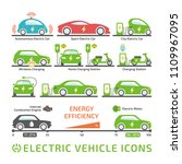 electric car color icon set.... | Shutterstock .eps vector #1109967095