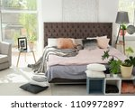 cozy room interior with large... | Shutterstock . vector #1109972897