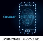 bot icon  wireframe polygon... | Shutterstock .eps vector #1109976434