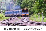train diesel engine run on... | Shutterstock . vector #1109979227