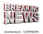 3d illustration of a breaking...   Shutterstock . vector #110998394