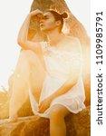 beauty summer outdoor portrait...   Shutterstock . vector #1109985791