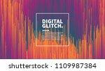 digital glitch effect vector... | Shutterstock .eps vector #1109987384