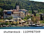 the dochiariu monastery in... | Shutterstock . vector #1109987549