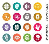 artificial intelligence icons | Shutterstock .eps vector #1109989331