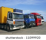 trucks used to transport goods... | Shutterstock . vector #11099920