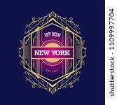 whiskey label art deco retro...   Shutterstock .eps vector #1109997704
