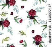 flowers bouquet arrangement on... | Shutterstock . vector #1110000467