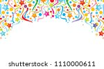 background design with party... | Shutterstock .eps vector #1110000611