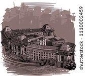 landmarks of sofia  sofia... | Shutterstock .eps vector #1110002459