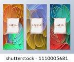 design templates for flyers ... | Shutterstock .eps vector #1110005681