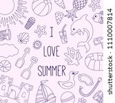 summer beach vacation holidays...   Shutterstock .eps vector #1110007814