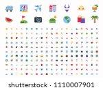 all travel  summer vacation ... | Shutterstock .eps vector #1110007901