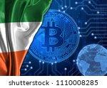 flag of ireland against the...   Shutterstock . vector #1110008285