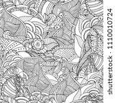 zentangle seamless background... | Shutterstock .eps vector #1110010724
