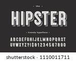 hipster trendy typeface bold 3d ... | Shutterstock .eps vector #1110011711
