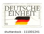 germany   circa 1995  a stamp... | Shutterstock . vector #111001241