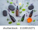 aromatherapy oil with fresh... | Shutterstock . vector #1110013271