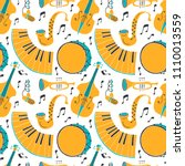 vector seamless pattern with...   Shutterstock .eps vector #1110013559
