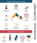 infographics of yoga pose....   Shutterstock .eps vector #1110014687
