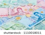 new money banknotes with coins... | Shutterstock . vector #1110018011