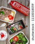 healthy food delivery. concept... | Shutterstock . vector #1110018059