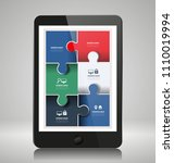infographic elements on... | Shutterstock .eps vector #1110019994