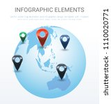 vector world map illustration... | Shutterstock .eps vector #1110020771