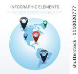 vector world map illustration... | Shutterstock .eps vector #1110020777
