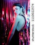 beautiful sexy high fashion art ... | Shutterstock . vector #1110022574
