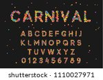 font alphabet of colored... | Shutterstock .eps vector #1110027971