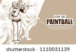 illustration of paintball... | Shutterstock .eps vector #1110031139