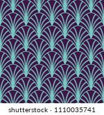 vintage art deco seamless...   Shutterstock .eps vector #1110035741