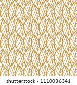 geometric golden leaves vector... | Shutterstock .eps vector #1110036341