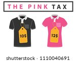 the pink tax concept vector... | Shutterstock .eps vector #1110040691