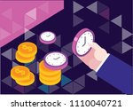 time is money concept  save... | Shutterstock .eps vector #1110040721