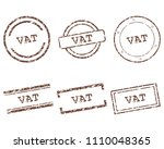 vat stamps on white | Shutterstock .eps vector #1110048365