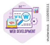 web development concept vector... | Shutterstock .eps vector #1110050111