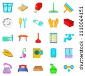 apartment renovation icons set. ... | Shutterstock . vector #1110064151