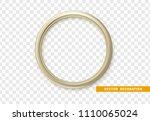 beige round frame isolated on... | Shutterstock .eps vector #1110065024