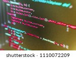 programing workflow abstract...   Shutterstock . vector #1110072209