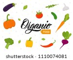organic food lettering sign... | Shutterstock .eps vector #1110074081