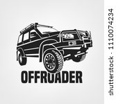 off road car. off roading suv... | Shutterstock .eps vector #1110074234
